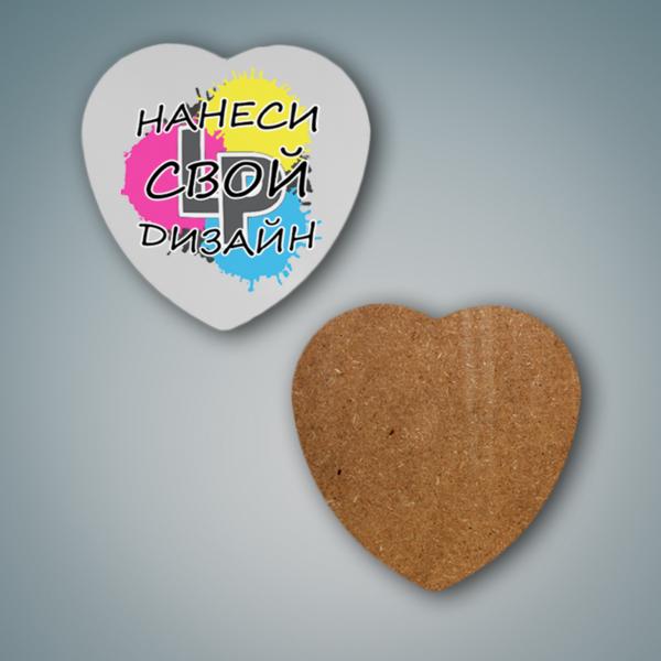 Создать костер в форме сердца с логотипом от lastprint.ru