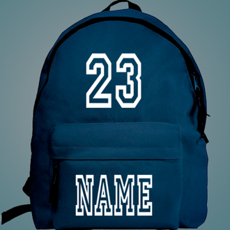 Создать именной рюкзак с надписью и номером