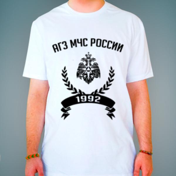 Футболка с логотипом Академия гражданской защиты МЧС России (АГЗ МЧС России)