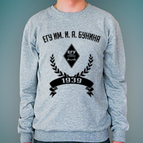 Свитшот с логотипом Елецкий государственный университет им. И. А. Бунина (ЕГУ им. И. А. Бунина)