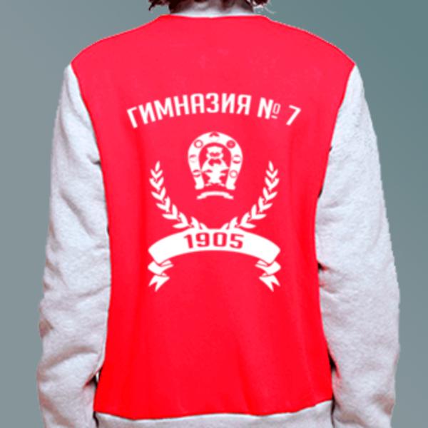 Бомбер с логотипом Гимназия № 7 им. Героя России С. В. Василёва (Гимназия № 7)