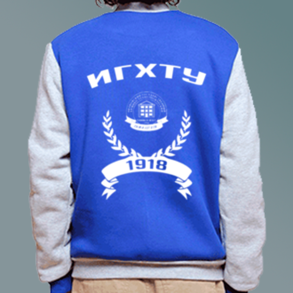 Бомбер с логотипом Ивановский государственный химико-технологический университет (ИГХТУ)