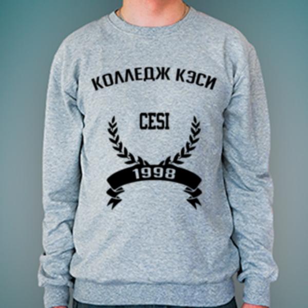 Свитшот с логотипом Колледж экономики, страхового дела и информационных технологий КЭСИ (Колледж КЭСИ)