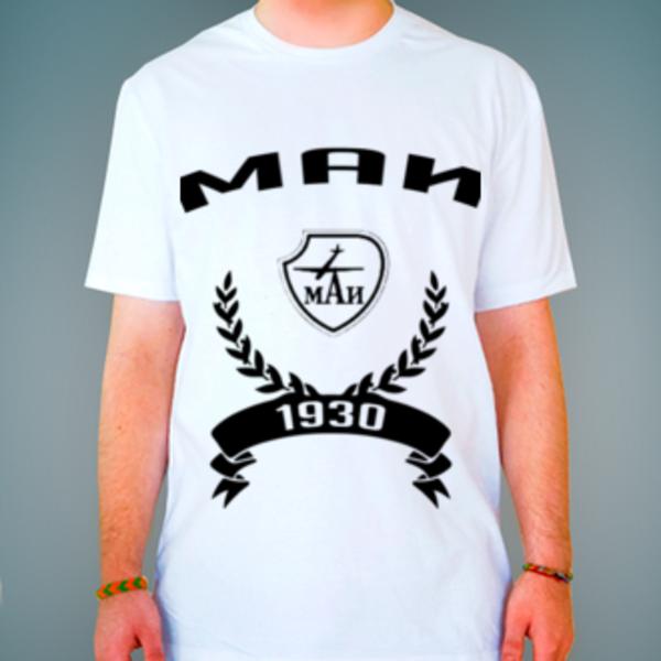 Футболка с логотипом Московский авиационный институт (МАИ)
