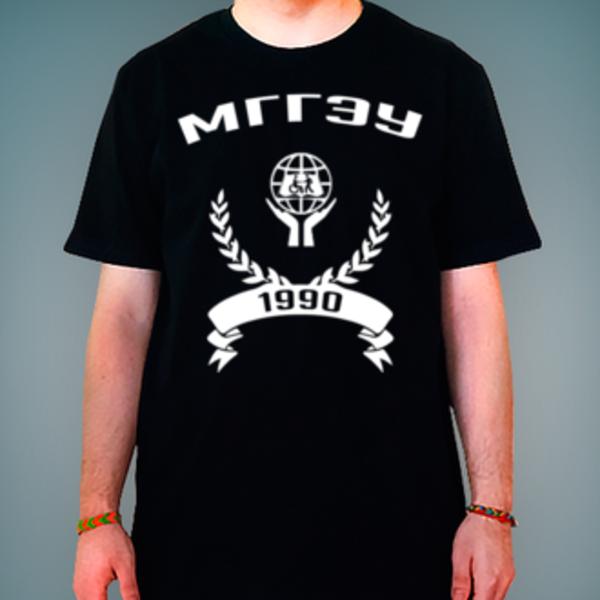 Футболка с логотипом Московский государственный гуманитарно-экономический университет (МГГЭУ)