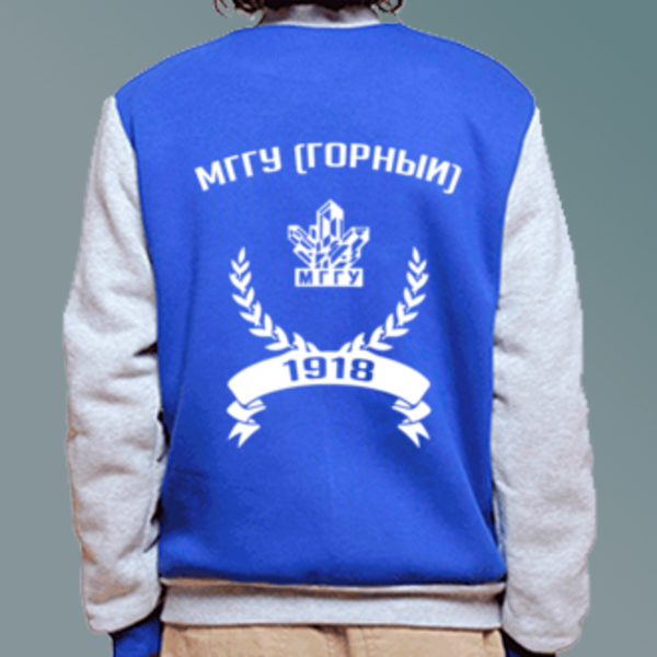 Бомбер с логотипом Московский государственный горный университет (МГГУ (Горный))