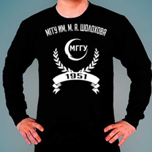 Свитшот с логотипом Московский государственный гуманитарный университет им. М. А. Шолохова (МГГУ им. М. А. Шолохова)