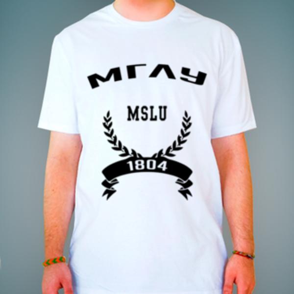 Футболка с логотипом Московский государственный лингвистический университет (МГЛУ)