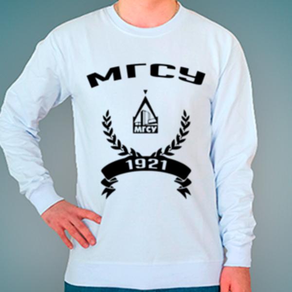 Свитшот с логотипом Московский государственный строительный университет (МГСУ)