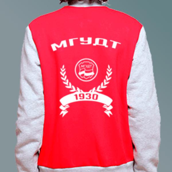 Бомбер с логотипом Московский государственный университет дизайна и технологий (МГУДТ)