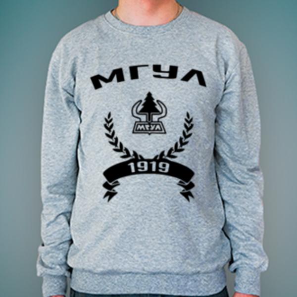 Свитшот с логотипом Московский государственный университет леса (МГУЛ)