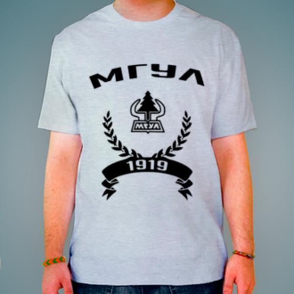 Футболка с логотипом Московский государственный университет леса (МГУЛ)