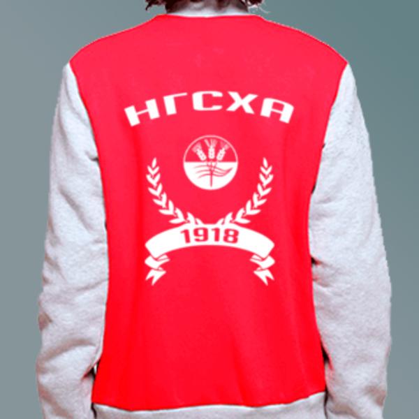 Бомбер с логотипом Нижегородская государственная сельскохозяйственная академия (НГСХА)
