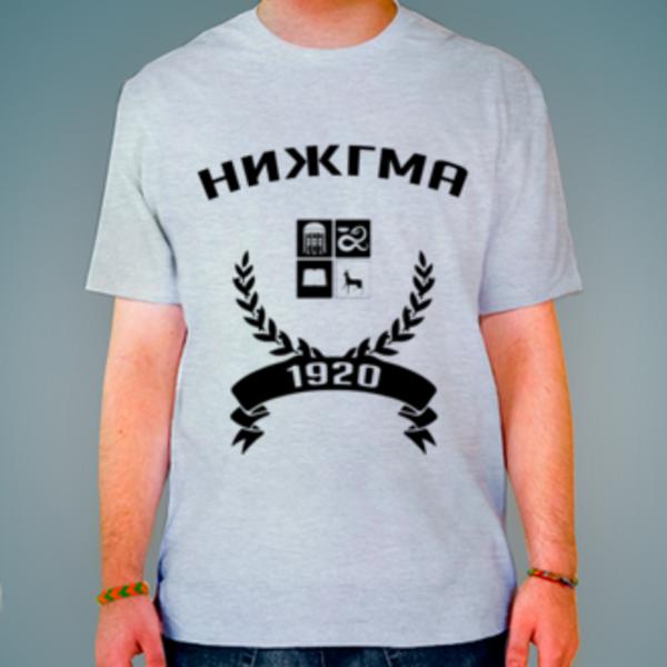 Футболка с логотипом Нижегородская государственная медицинская академия (НИЖГМА)