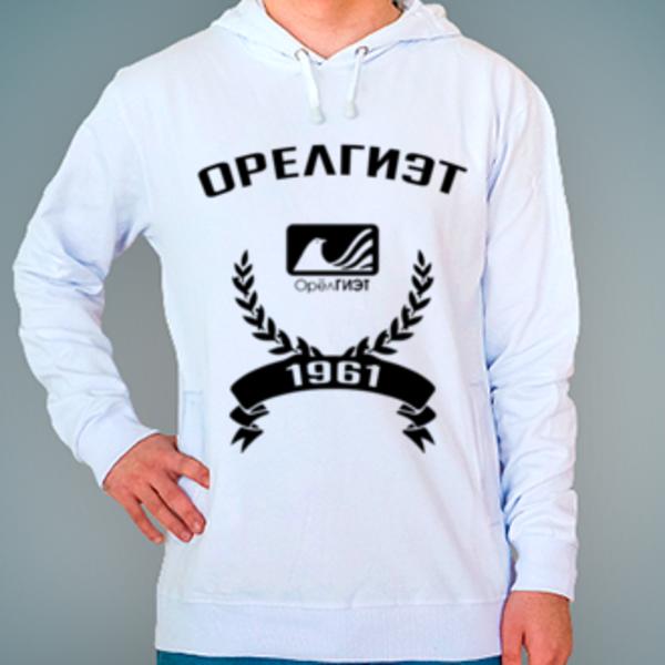 Толстовка с логотипом Орловский государственный институт экономики и торговли (ОрелГИЭТ)