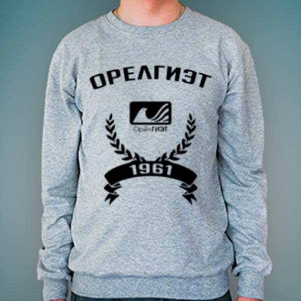 Свитшот с логотипом Орловский государственный институт экономики и торговли (ОрелГИЭТ)