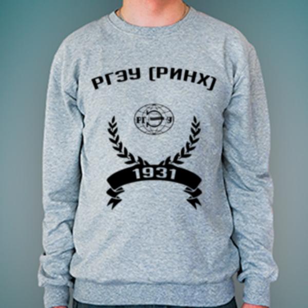 Свитшот с логотипом Ростовский государственный экономический университет (РИНХ) (РГЭУ (РИНХ))