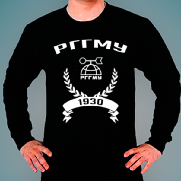 Свитшот с логотипом Российский государственный гидрометеорологический университет (РГГМУ)
