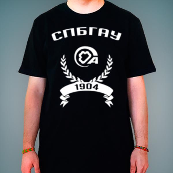 Футболка с логотипом Санкт-Петербургский государственный аграрный университет (СПбГАУ)
