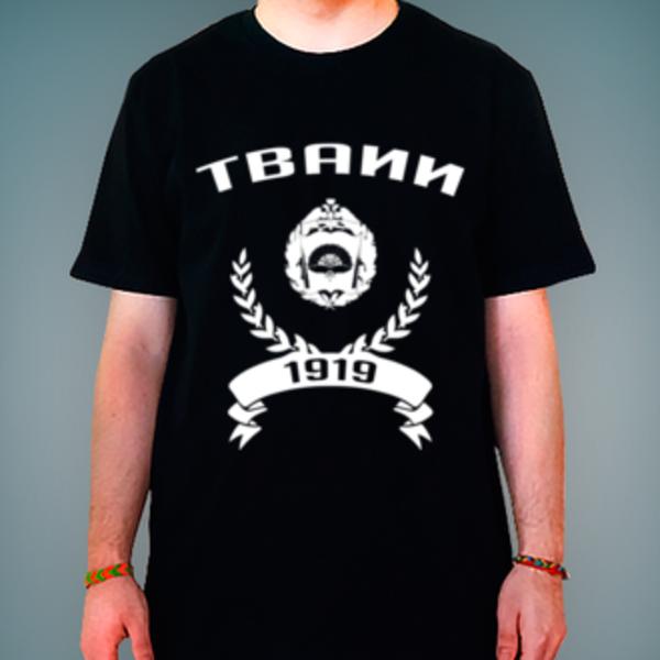 Футболка с логотипом Тамбовское высшее военное авиационное инженерное училище радиоэлектроники (военный институт) (ТВАИИ)