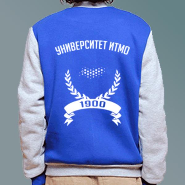 Бомбер с логотипом Санкт-Петербургский национальный исследовательский университет информационных технологий, механики и оптики (Университет ИТМО)