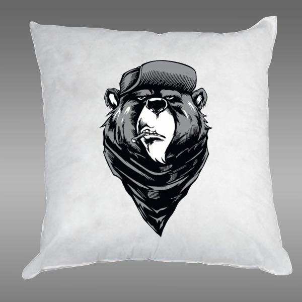 Картинка морда медведя в фуражке